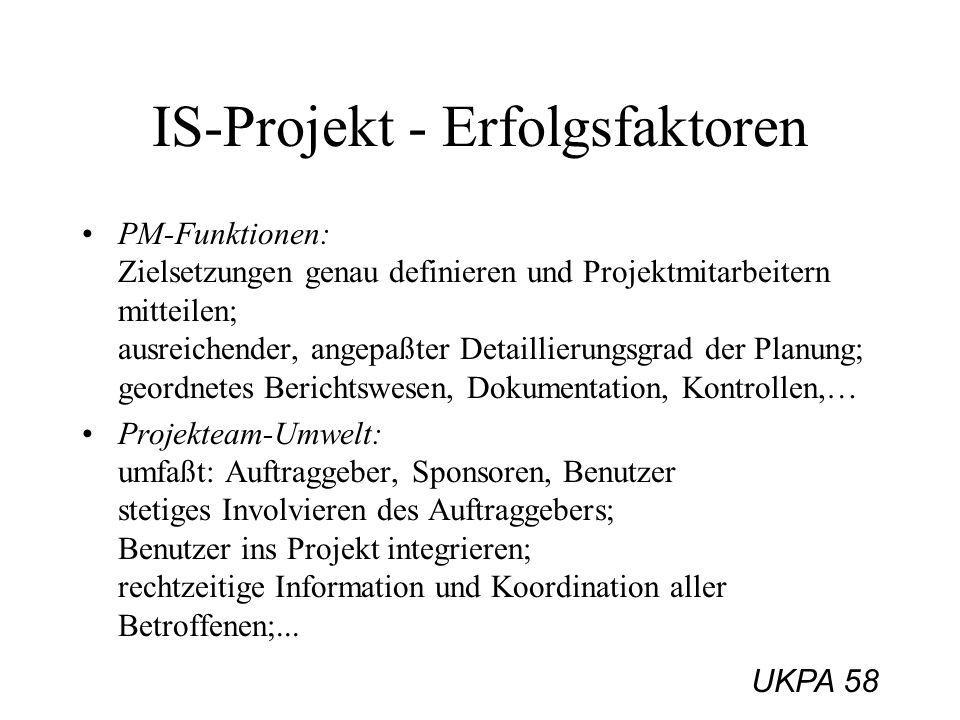IS-Projekt - Erfolgsfaktoren