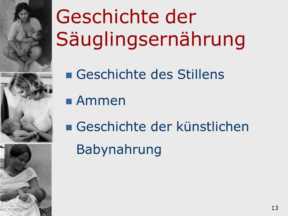 Geschichte der Säuglingsernährung