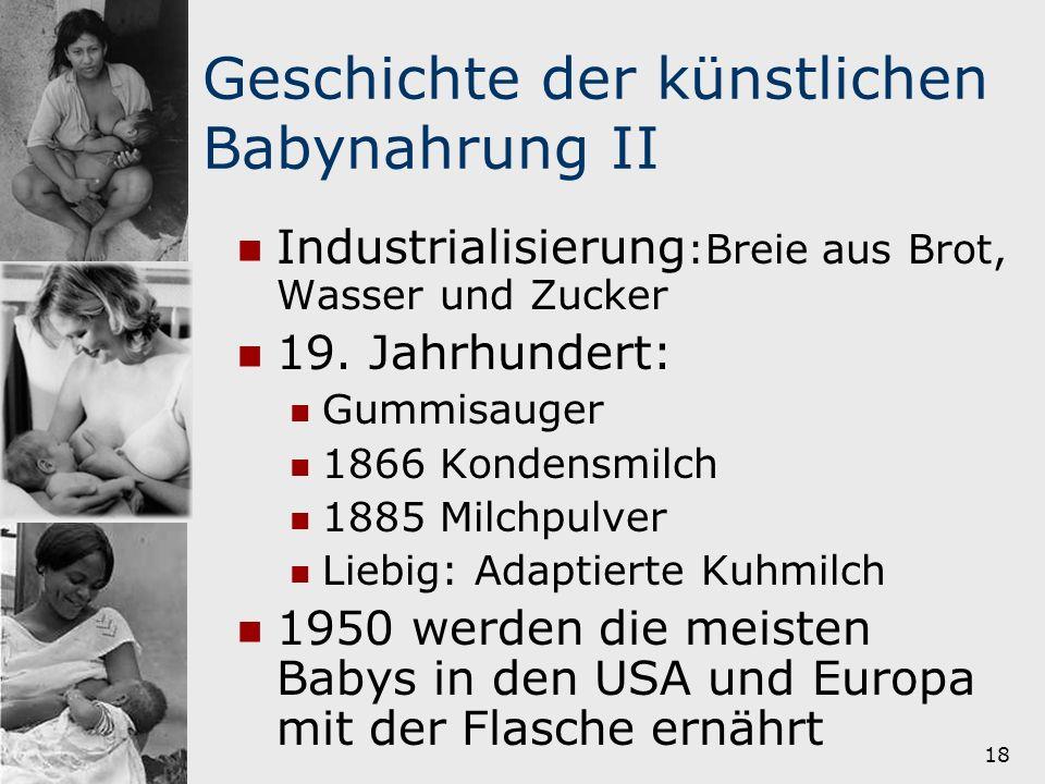 Geschichte der künstlichen Babynahrung II