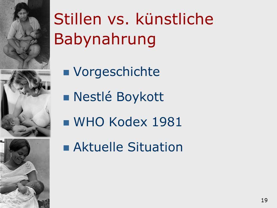 Stillen vs. künstliche Babynahrung
