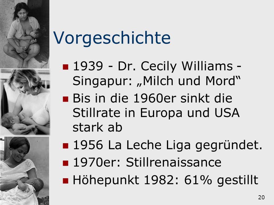 """Vorgeschichte 1939 - Dr. Cecily Williams - Singapur: """"Milch und Mord"""