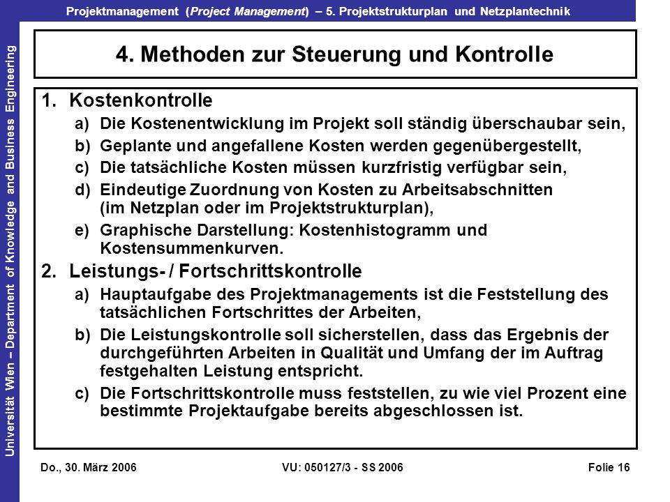 4. Methoden zur Steuerung und Kontrolle