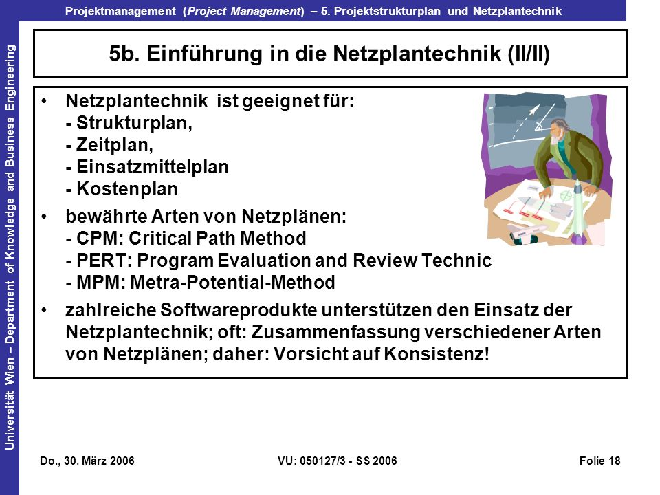 5b. Einführung in die Netzplantechnik (II/II)
