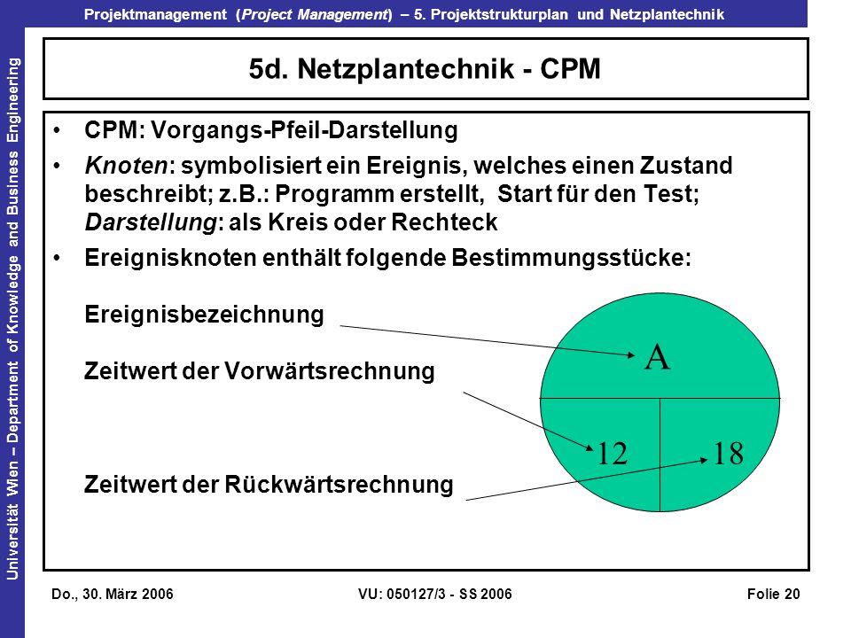 5d. Netzplantechnik - CPM