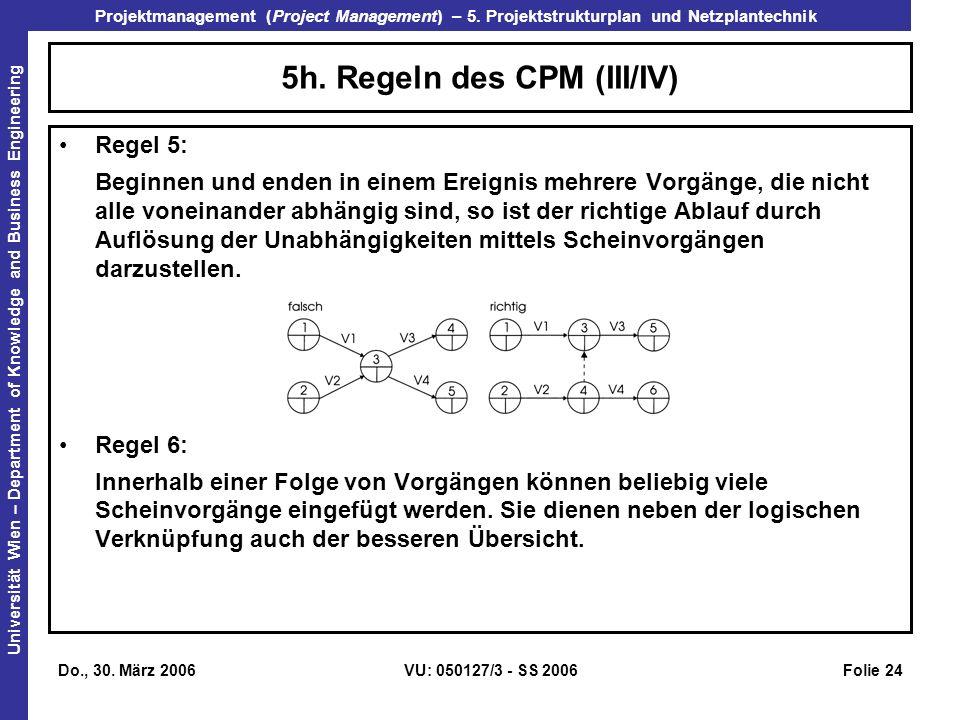 5h. Regeln des CPM (III/IV)