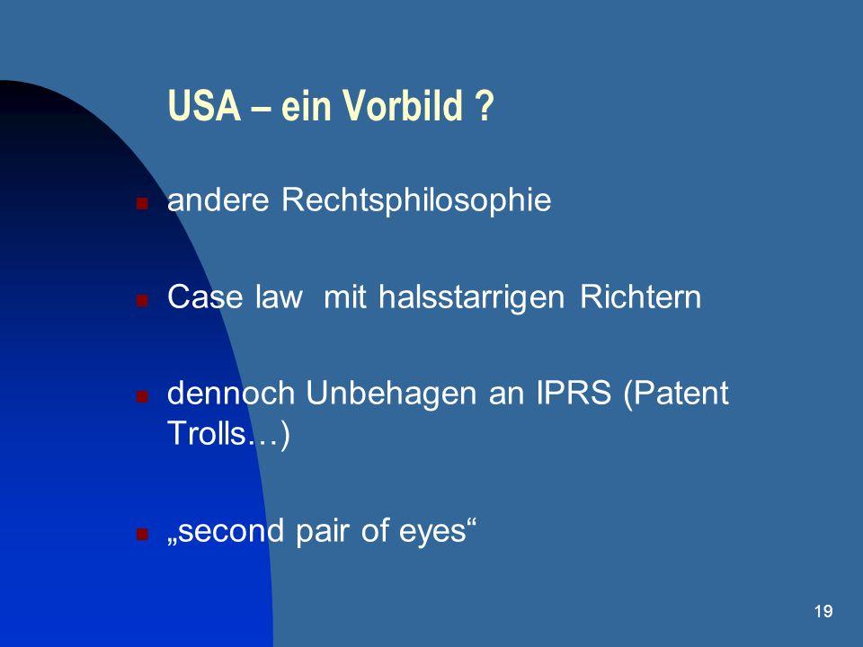 USA – ein Vorbild andere Rechtsphilosophie