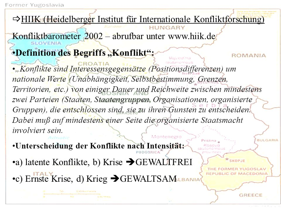 HIIK (Heidelberger Institut für Internationale Konfliktforschung)