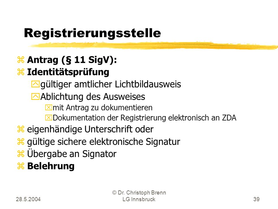 Registrierungsstelle