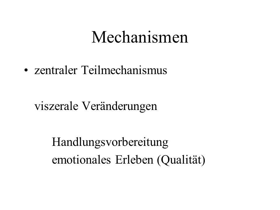 Mechanismen zentraler Teilmechanismus viszerale Veränderungen