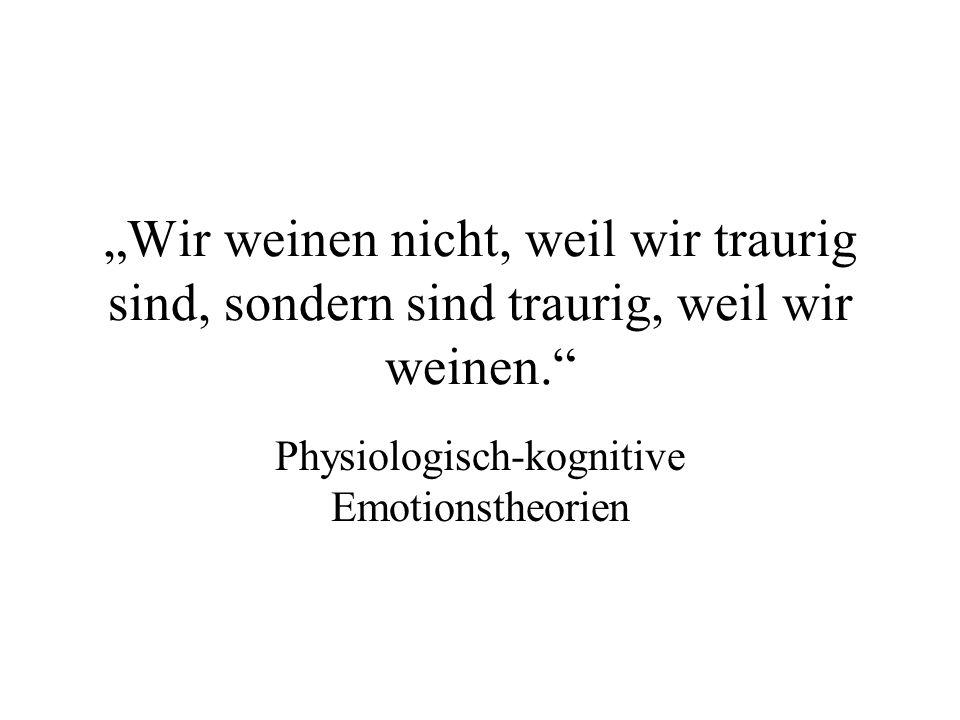Physiologisch-kognitive Emotionstheorien