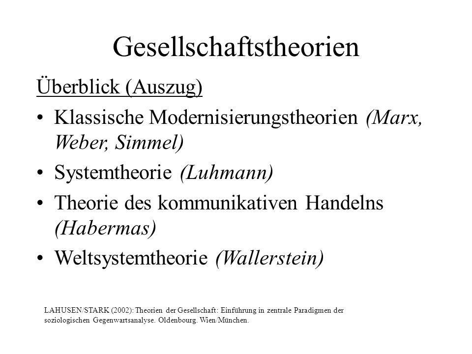 Gesellschaftstheorien