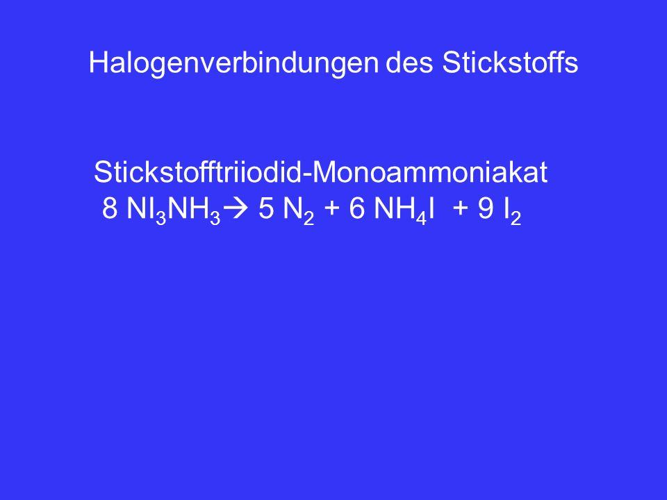 Halogenverbindungen des Stickstoffs