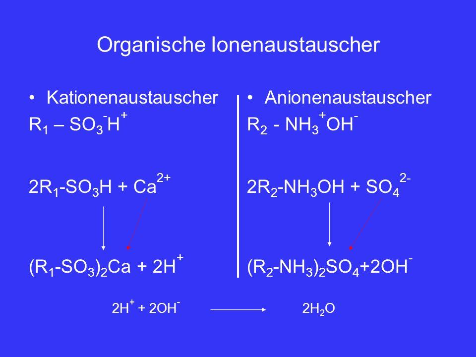 Organische Ionenaustauscher