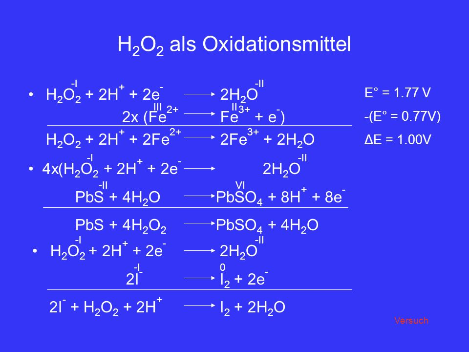 H2O2 als Oxidationsmittel