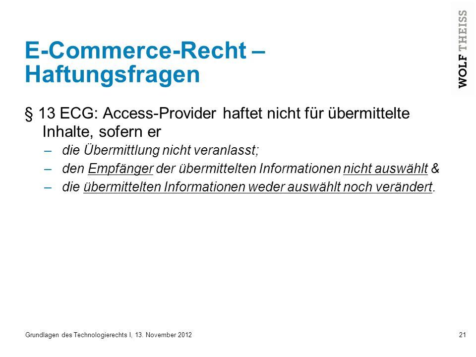 E-Commerce-Recht – Haftungsfragen