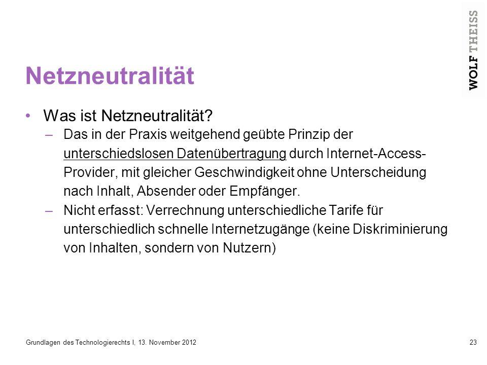 Netzneutralität Was ist Netzneutralität