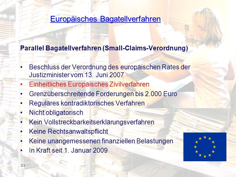 Europäisches Bagatellverfahren