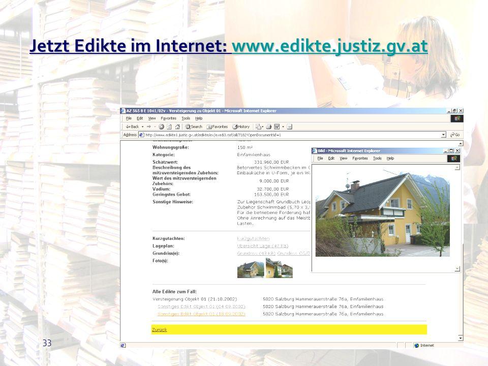 Jetzt Edikte im Internet: www.edikte.justiz.gv.at