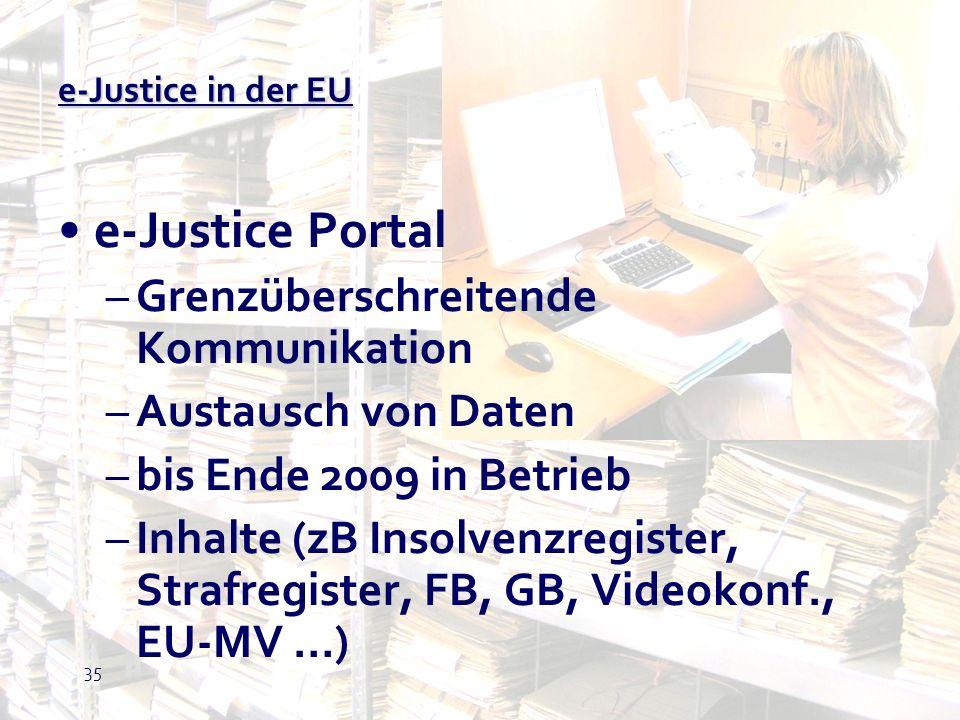 e-Justice Portal Grenzüberschreitende Kommunikation