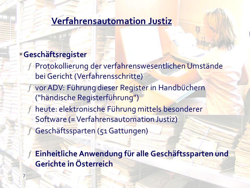 Verfahrensautomation Justiz