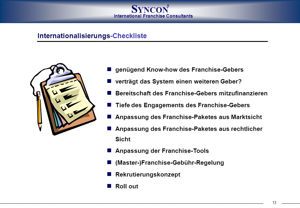 Internationalisierungs-Checkliste