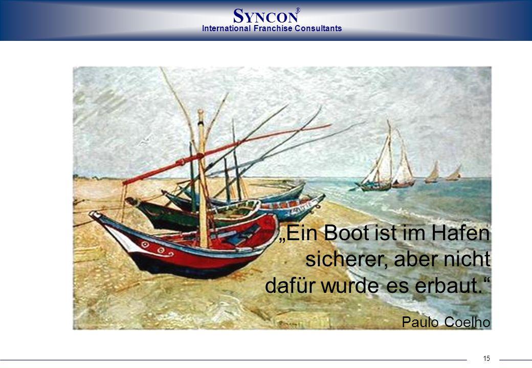 """""""Ein Boot ist im Hafen sicherer, aber nicht dafür wurde es erbaut"""