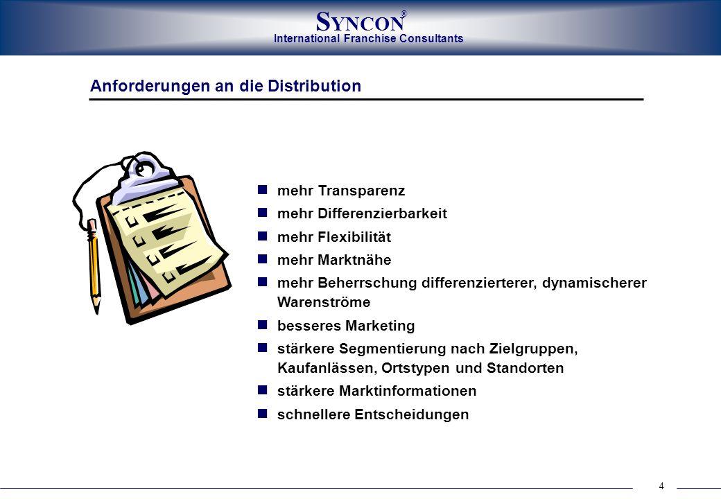 Anforderungen an die Distribution