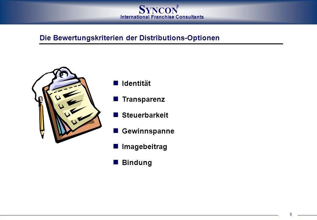 Die Bewertungskriterien der Distributions-Optionen