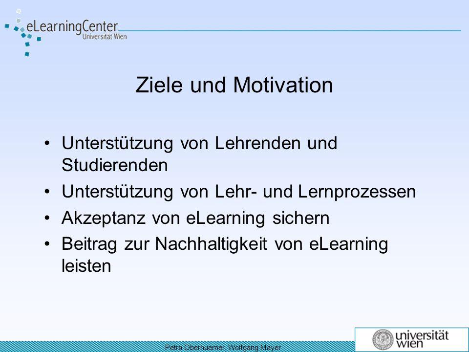 Ziele und Motivation Unterstützung von Lehrenden und Studierenden