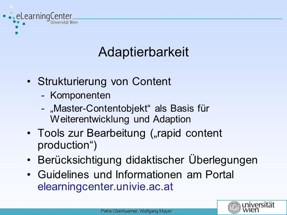 Adaptierbarkeit Strukturierung von Content