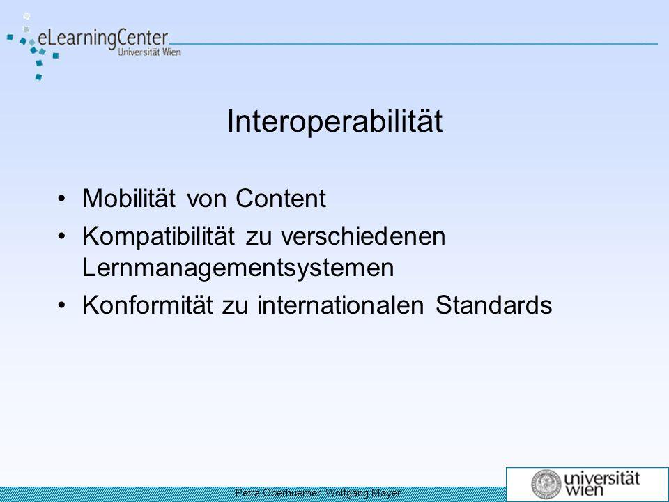 Interoperabilität Mobilität von Content