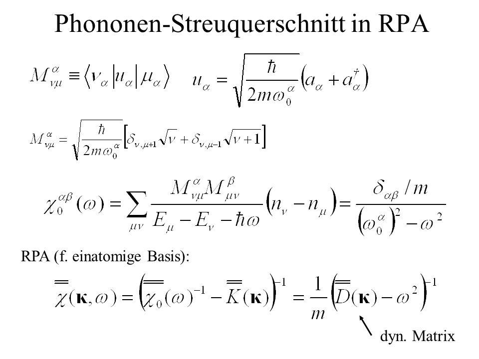 Phononen-Streuquerschnitt in RPA