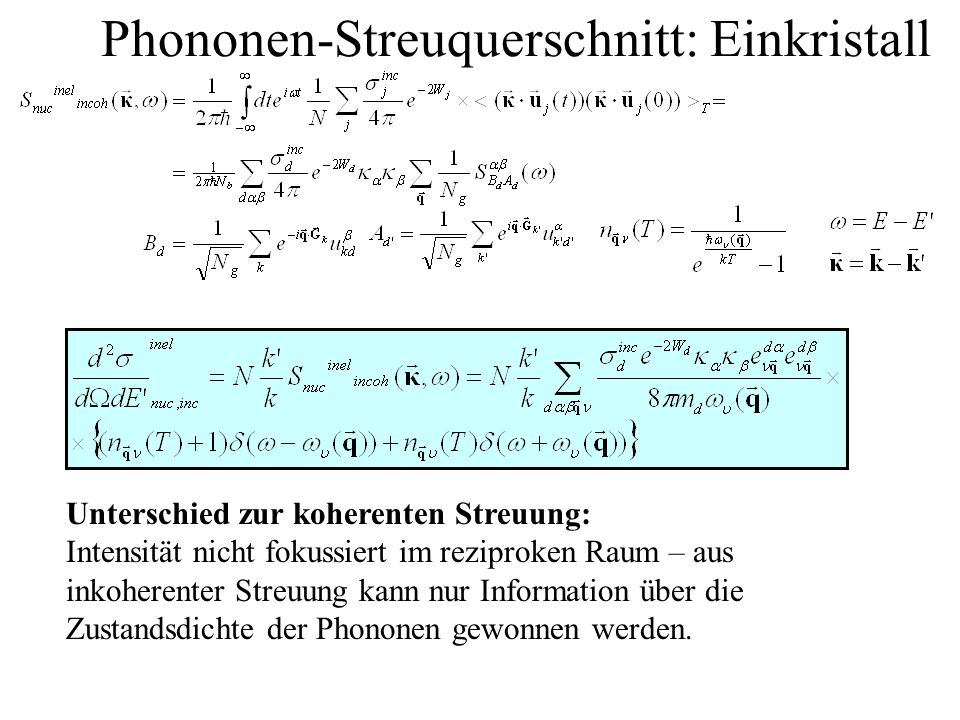 Phononen-Streuquerschnitt: Einkristall