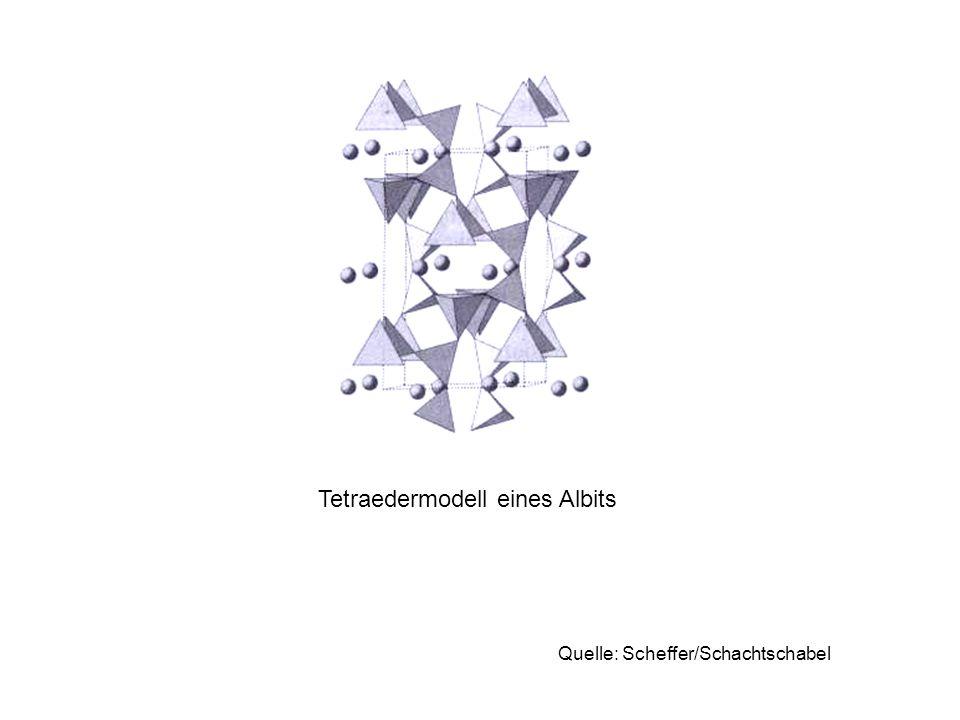 Tetraedermodell eines Albits