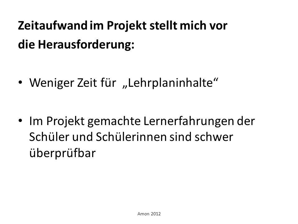 Zeitaufwand im Projekt stellt mich vor die Herausforderung: