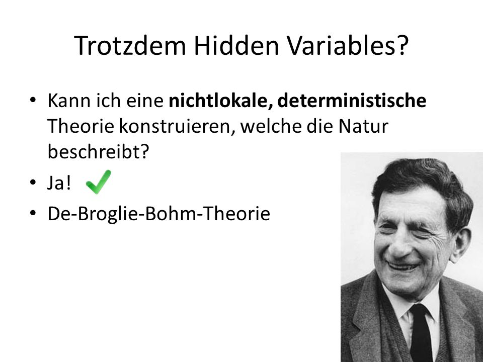 Trotzdem Hidden Variables