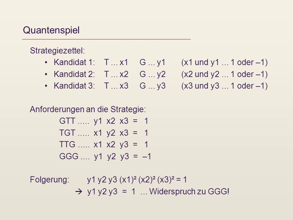 Quantenspiel Strategiezettel:
