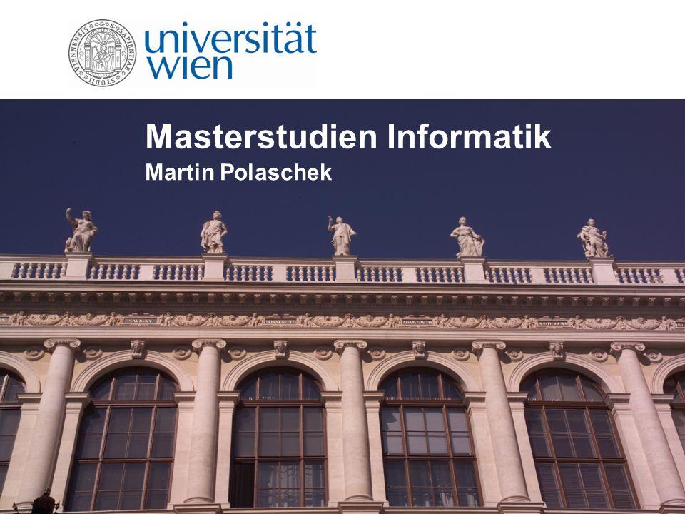 Masterstudien Informatik