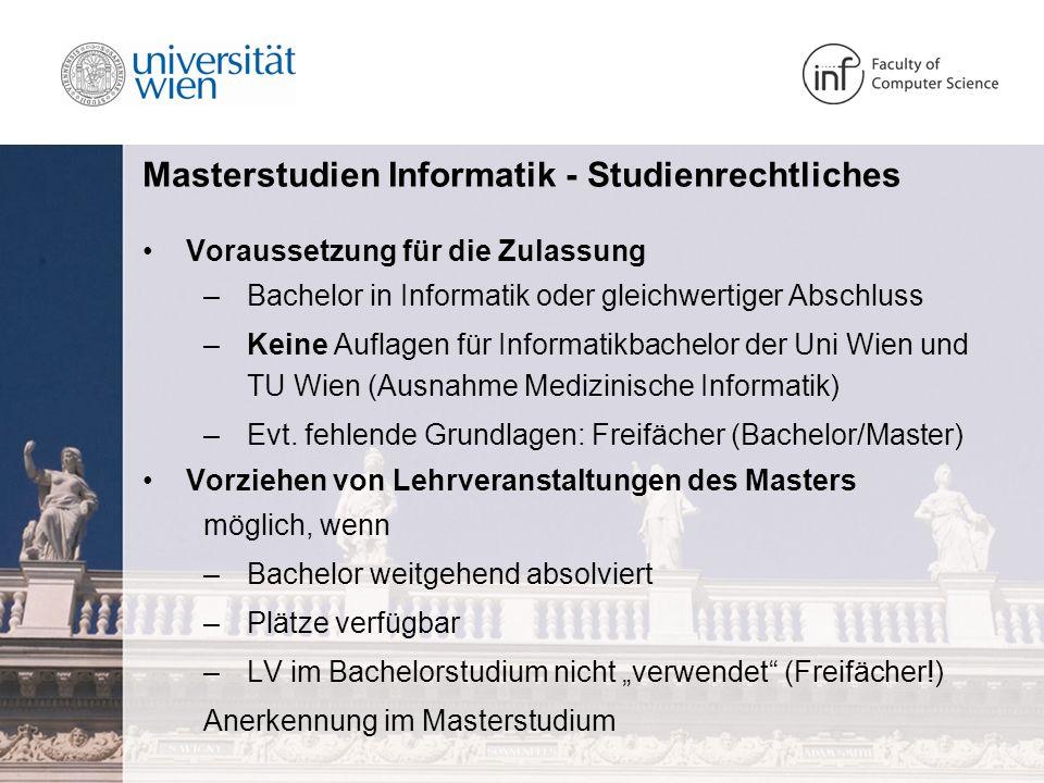 Masterstudien Informatik - Studienrechtliches
