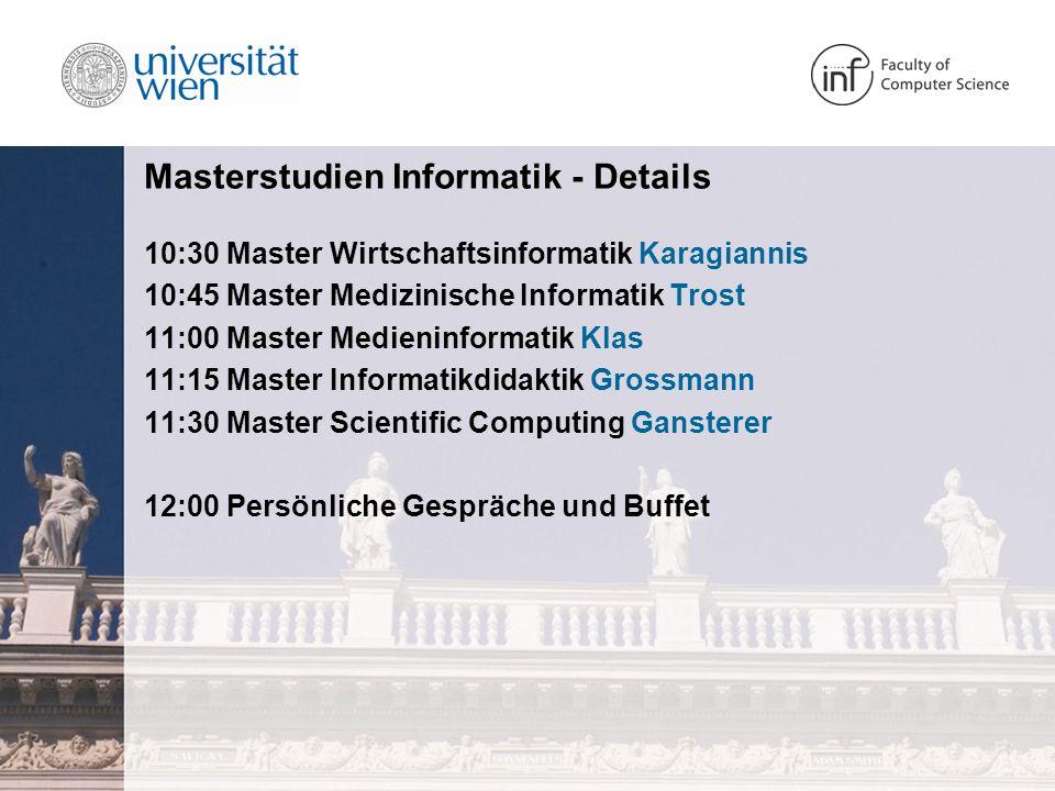 Masterstudien Informatik - Details