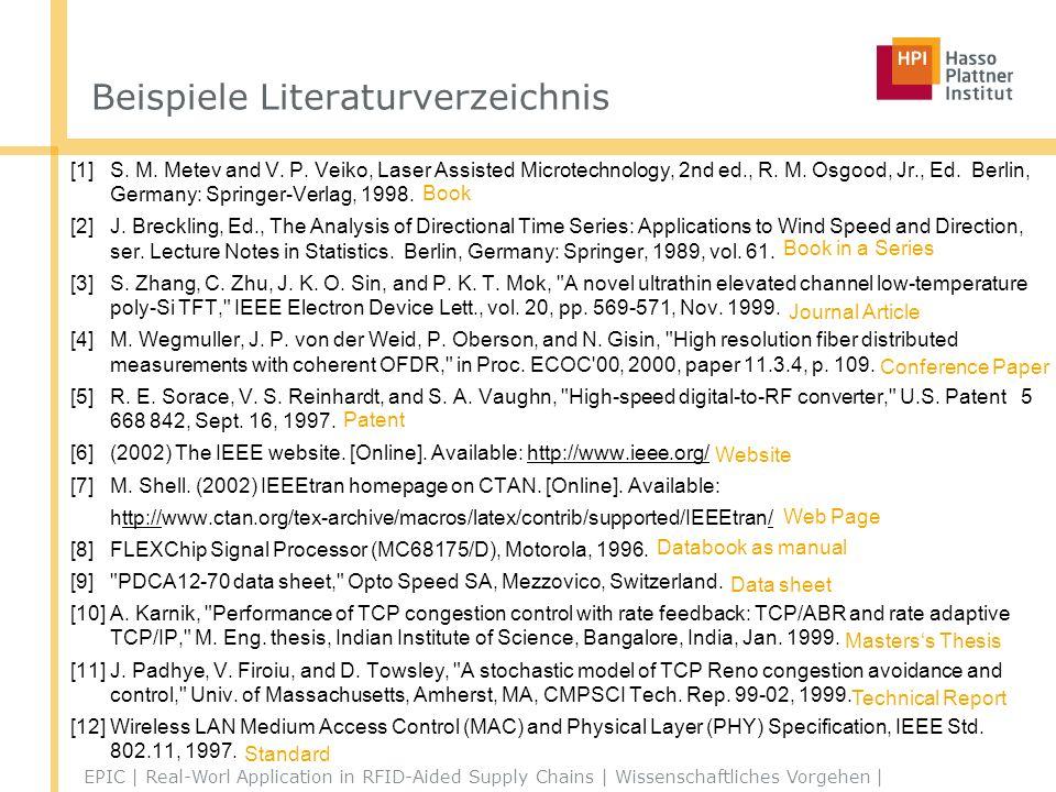 Beispiele Literaturverzeichnis