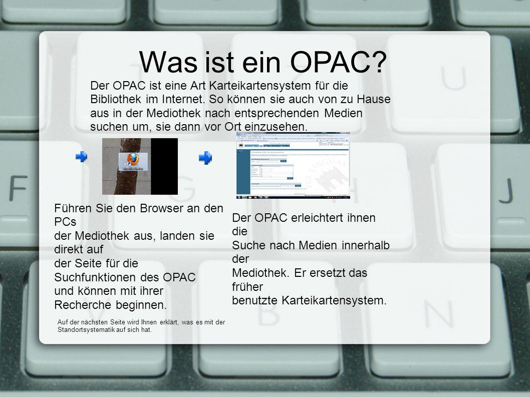 Was ist ein OPAC