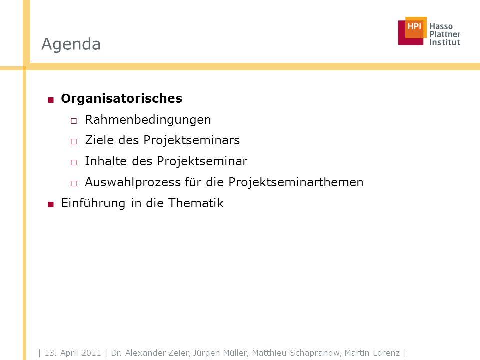Organisatorisches Rahmenbedingungen