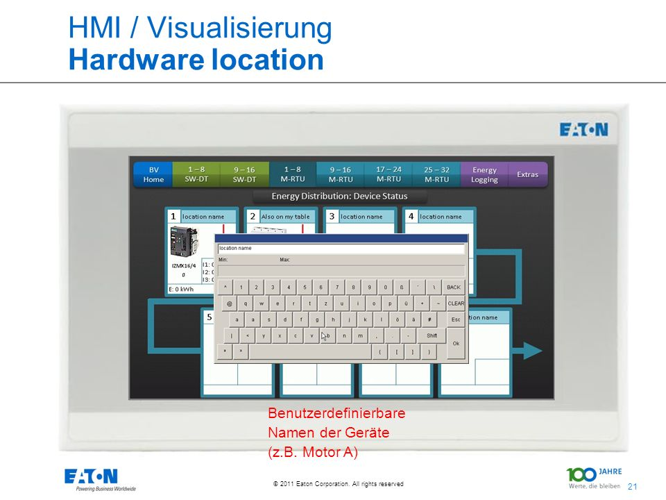 HMI / Visualisierung Hardware location
