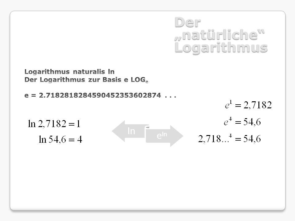 """Der """"natürliche Logarithmus"""