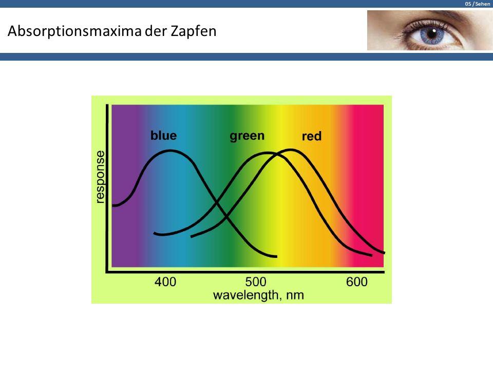 Absorptionsmaxima der Zapfen