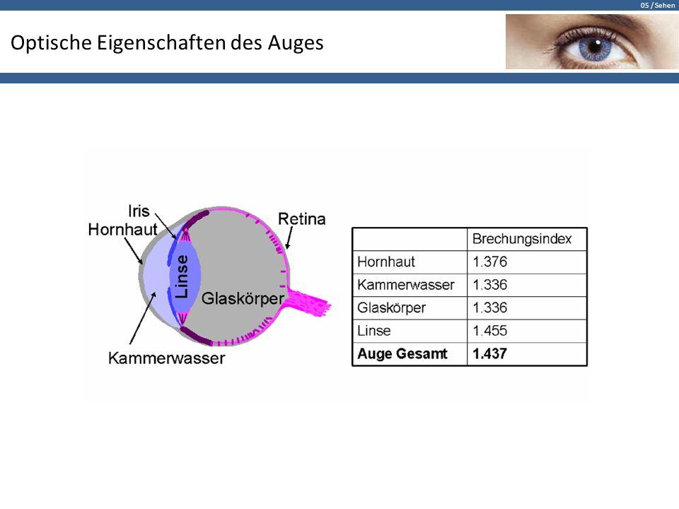 Optische Eigenschaften des Auges