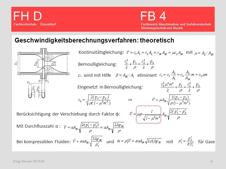 Geschwindigkeitsberechnungsverfahren: theoretisch