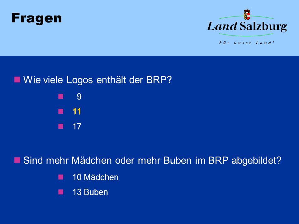 Fragen Wie viele Logos enthält der BRP