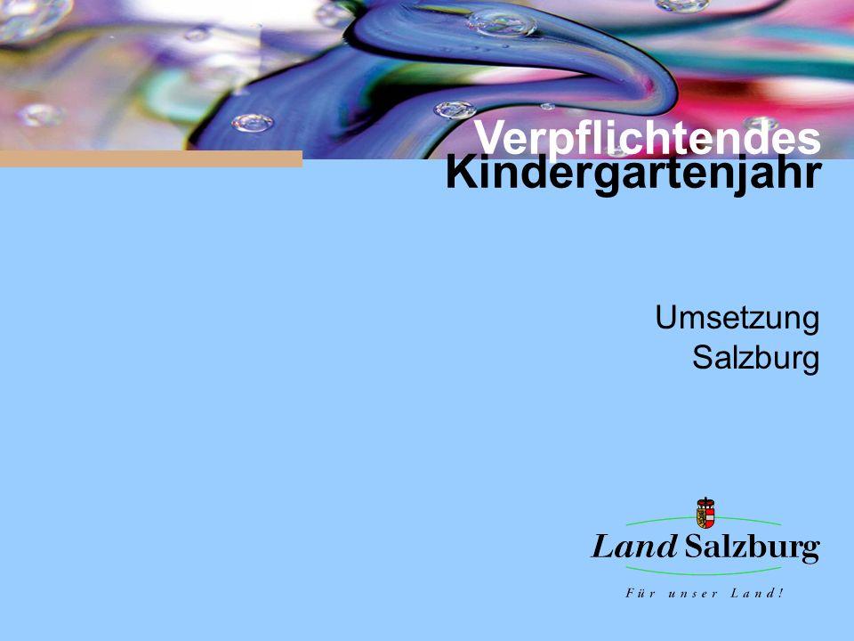 Verpflichtendes Kindergartenjahr